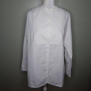 everlane women white cotton shirtdress  SZ 12